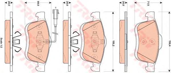 Колодки тормозные дисковые TRW/Lucas GDB1864GDB1864