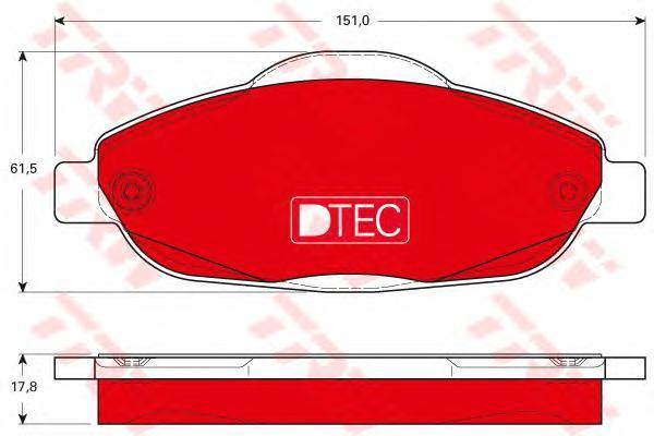 Колодки тормозные передние TRW/Lucas GDB1761DTEGDB1761DTE