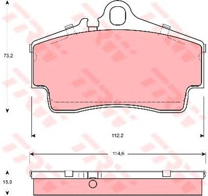 Колодки тормозные дисковые TRW/Lucas GDB1395GDB1395