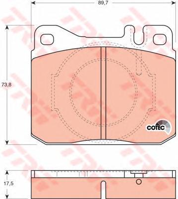Колодки тормозные дисковые TRW/Lucas GDB264GDB264