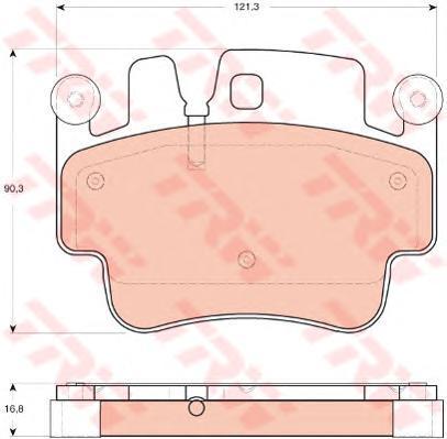 Колодки тормозные дисковые TRW/Lucas GDB1742GDB1742