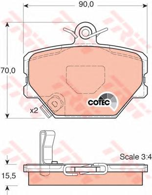 Колодки тормозные дисковые TRW/Lucas GDB1365GDB1365