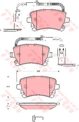 Колодки тормозные дисковые TRW/Lucas GDB1508GDB1508