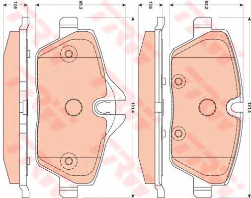 Колодки тормозные дисковые TRW/Lucas GDB1870GDB1870