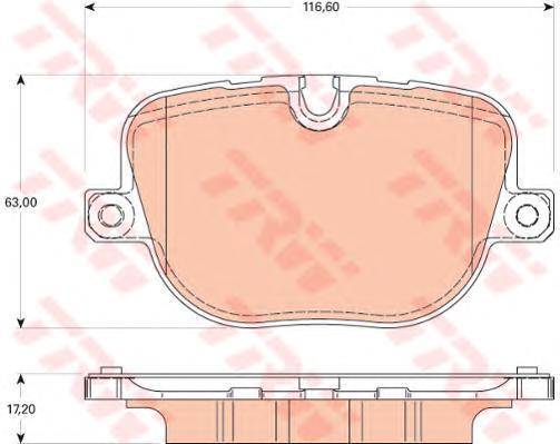Колодки тормозные дисковые TRW/Lucas GDB1824GDB1824