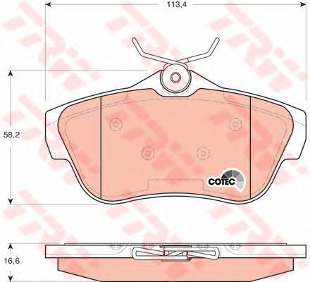 Колодки тормозные дисковые TRW/Lucas GDB1740GDB1740