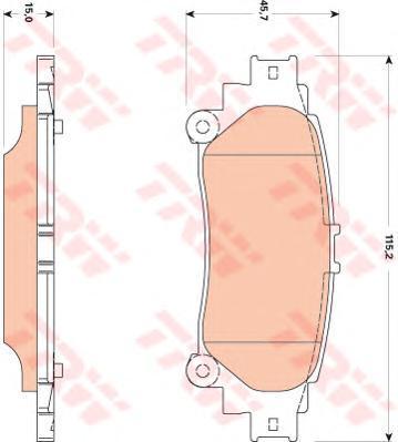 Колодки тормозные дисковые TRW/Lucas GDB3497GDB3497
