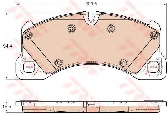 Колодки тормозные передние TRW/Lucas GDB1969GDB1969