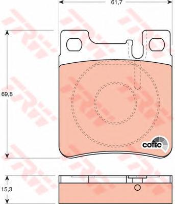 Колодки тормозные дисковые TRW/Lucas GDB1123GDB1123