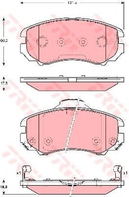 Колодки тормозные дисковые TRW/Lucas GDB3386GDB3386