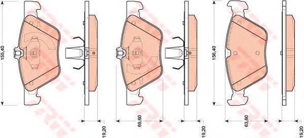 Колодки тормозные дисковые TRW/Lucas GDB1815GDB1815