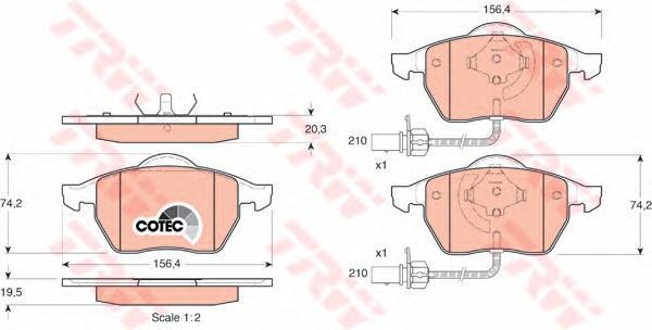 Колодки тормозные дисковые TRW/Lucas GDB1307GDB1307