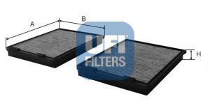 Фильтр салона (комплект) UFI 54108005410800
