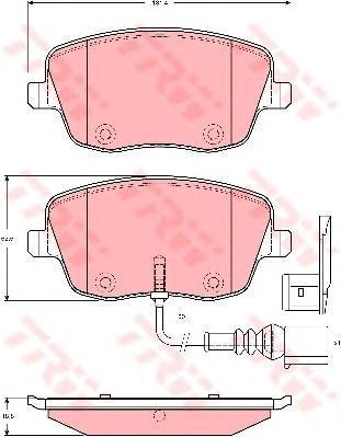 Колодки тормозные дисковые TRW/Lucas GDB1472GDB1472