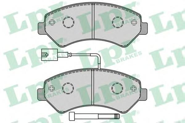 Колодки тормозные передний LPR / AP 05P128805P1288