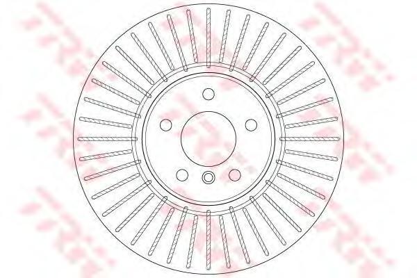 Диск тормозной передний TRW/Lucas DF6408SDF6408S