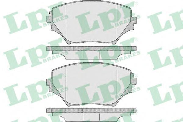Колодки тормозные передние LPR / AP 05P95805P958