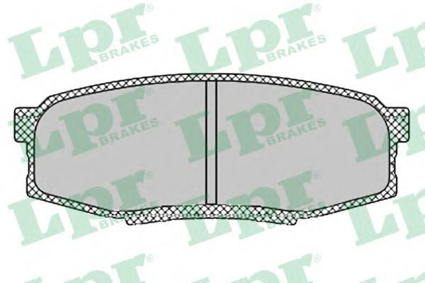 Колодки тормозные задние LPR / AP 05P141905P1419