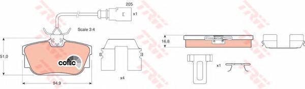 Колодки тормозные дисковые TRW/Lucas GDB1369GDB1369
