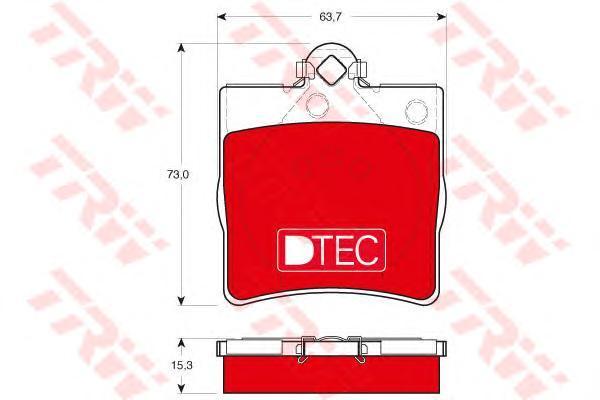 Колодки тормозные задние TRW/Lucas GDB1335DTEGDB1335DTE