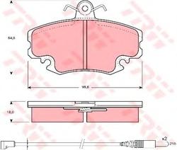 Колодки тормозные дисковые TRW/Lucas GDB400GDB400