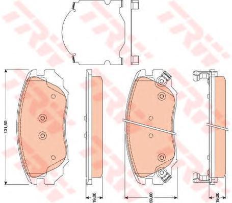 Колодки тормозные дисковые TRW/Lucas GDB1782GDB1782