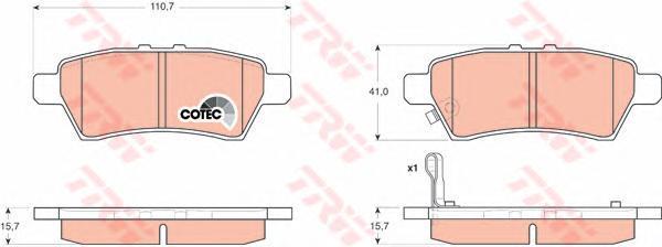 Колодки тормозные дисковые TRW/Lucas GDB3405GDB3405