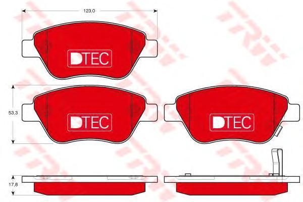 Колодки тормозные передние TRW/Lucas GDB1700DTEGDB1700DTE