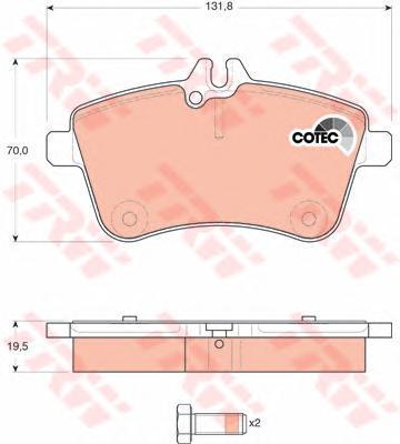 Колодки тормозные дисковые TRW/Lucas GDB1628GDB1628