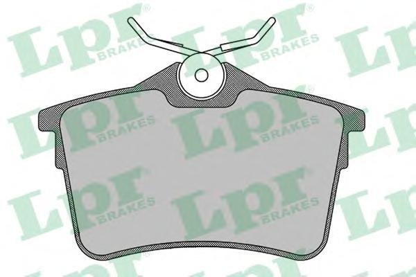 Колодки тормозные задние LPR / AP 05P150005P1500