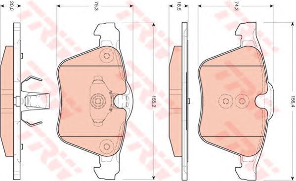Колодки тормозные дисковые TRW/Lucas GDB1684GDB1684