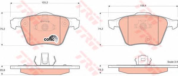Колодки тормозные дисковые TRW/Lucas GDB1GDB1