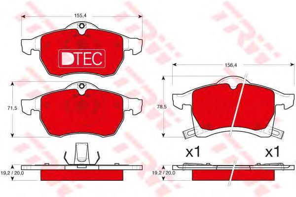 Колодки тормозные передние TRW/Lucas GDB1350DTEGDB1350DTE