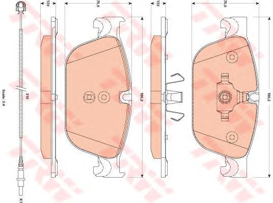Колодки тормозные дисковые TRW/Lucas GDB1889GDB1889