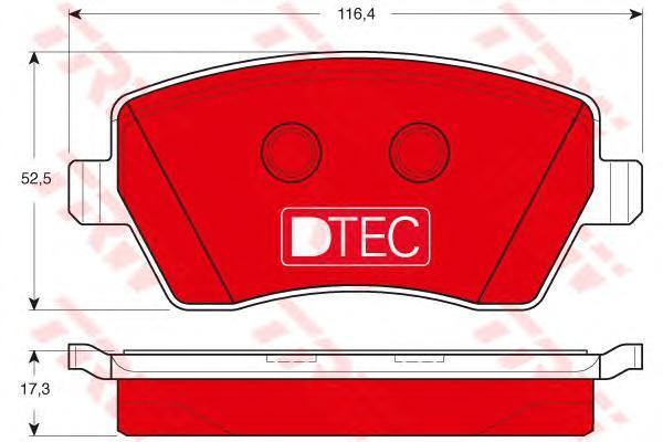 Колодки тормозные передние TRW/Lucas GDB3332DTEGDB3332DTE
