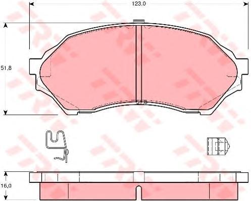 Колодки тормозные дисковые TRW/Lucas GDB3193GDB3193