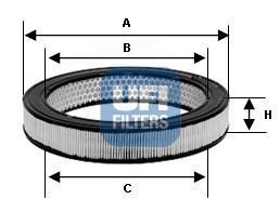Фильтр воздушный UFI 30802013080201