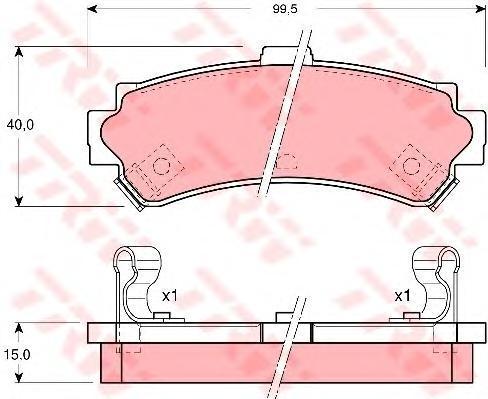 Колодки тормозные дисковые TRW/Lucas GDB3115GDB3115