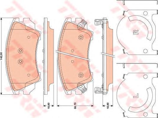 Колодки тормозные дисковые TRW/Lucas GDB1783GDB1783