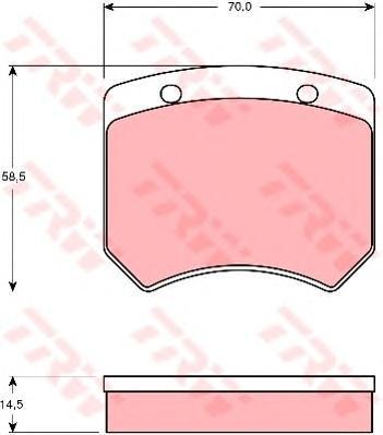Колодки тормозные дисковые TRW/Lucas GDB973GDB973