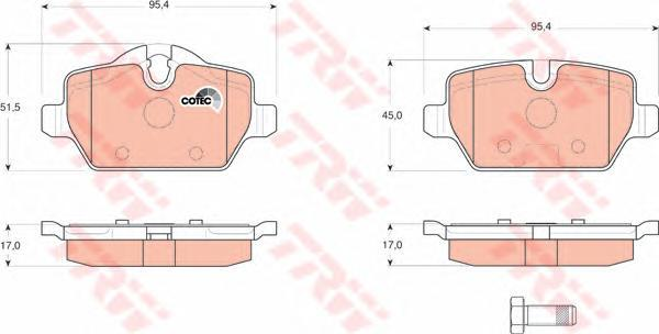 Колодки тормозные дисковые TRW/Lucas GDB1612GDB1612