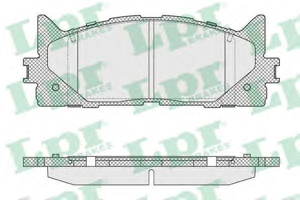 Колодки тормозные передние LPR / AP 05P159305P1593