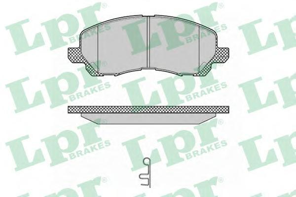 Колодки тормозные передние дисковые LPR / AP 05P134705P1347