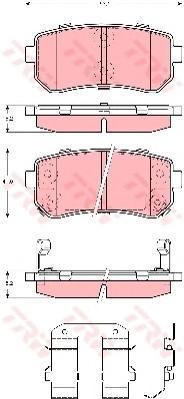 Колодки тормозные дисковые TRW/Lucas GDB3421GDB3421