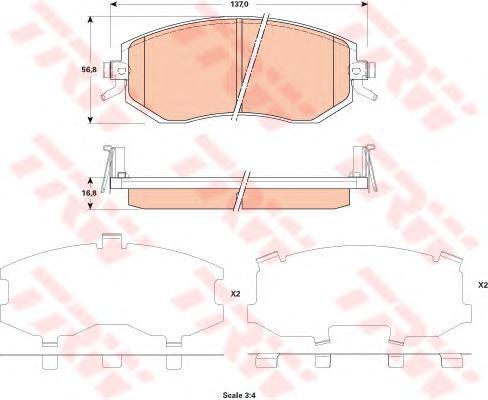 Колодки тормозные дисковыеTRW/Lucas GDB3519GDB3519