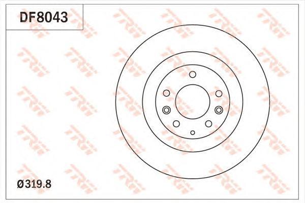 Диск тормозной передний вентилируемыйD=320мм TRW/Lucas DF8043 комплект 2 штDF8043