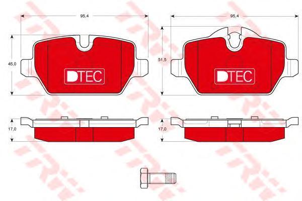 Колодки тормозные задние TRW/Lucas GDB1612DTEGDB1612DTE