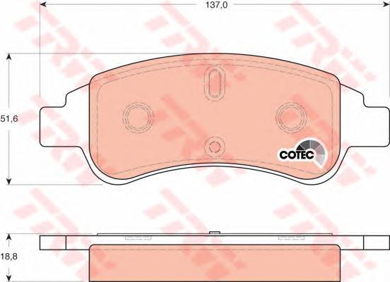 Колодки тормозные дисковые TRW/Lucas GDB1563GDB1563
