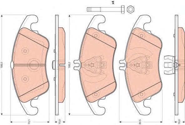 Колодки тормозные дисковые TRW/Lucas GDB1737GDB1737
