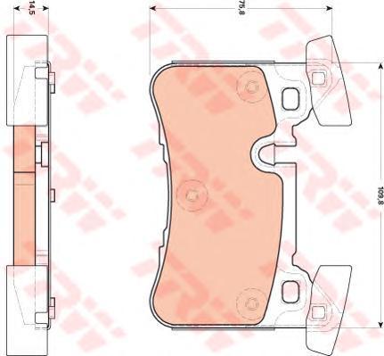 Колодки тормозные дисковые TRW/Lucas GDB1856GDB1856